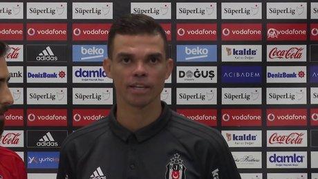 Beşiktaşlı futbolcu Pepe'nin maç sonu açıklamaları