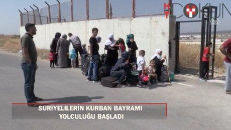 Suriyeliler Kurban Bayramı dolayısıyla ülkelerine gitmeye başladı