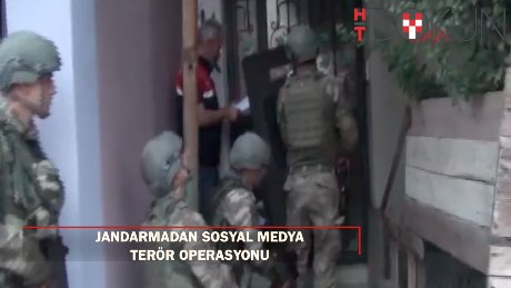 Jandarmadan sosyal medyada terör operasyonu