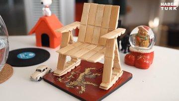 Mandal ile dekoratif sandalye yapımı