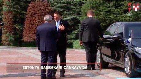 Estonya Başbakanı ve AB Dönem Başkanı Çankaya'da