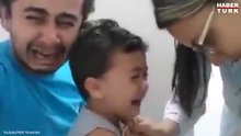 Çocuğunun iğne olmasına dayanamayan baba