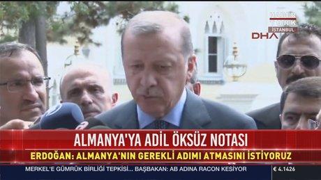 Cumhurbaşkanı Erdoğan'dan Merkel'in Gümrük Birliği açıklamalarına yanıt
