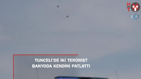 2 terörist saklandıkları evin banyosunda kendini patlattı