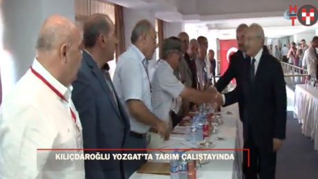 Kılıçdaroğlu, Yozgat'ta Tarım Çalıştayı'na katıldı