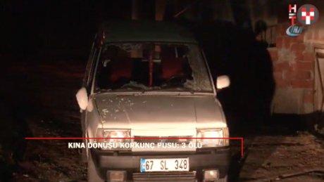 Kına dönüşü katliam: Zonguldak'ta 3 ölü