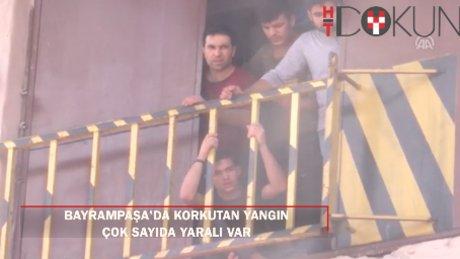 Bayrampaşa'da korkutan iş yeri yangını