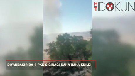 PKK'nın 4 sığınağı imha edildi