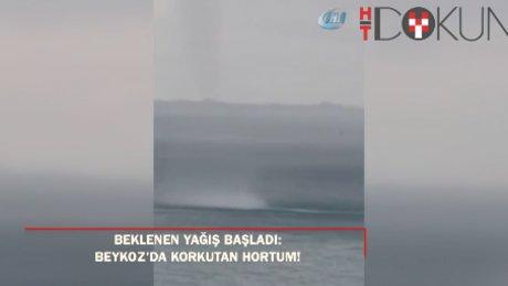 Beklenen yağış başladı: Beykoz'da hortum!