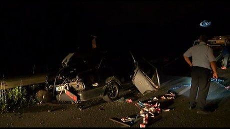 Beykoz-Riva yolunda feci kaza: 2 ölü, 1 ağır yaralı