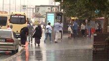 İstanbul'da beklenen yağmur başladı