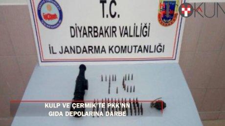 Kulp ve Çermik'te PKK'nın gıda deposu ve mühimmatı bulundu