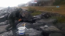 Sağanak balıkçılara yaradı, Boğaz'da oltalar saniyeler içerisinde doldu