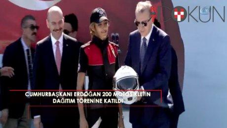 Cumhurbaşkanı Erdoğan 200 yeni motosikletin dağıtım törenine katıldı