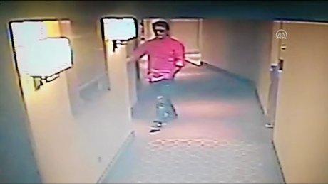 Vatan Şaşmaz'ın oteldeki son görüntüleri güvenlik kamerasında