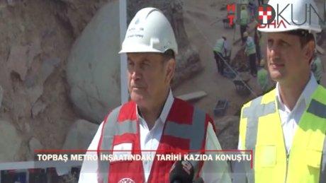 """Topbaş: """"Beşiktaş kazıları yol sonuna kadar biterse açılış süresi etkilenmez"""""""
