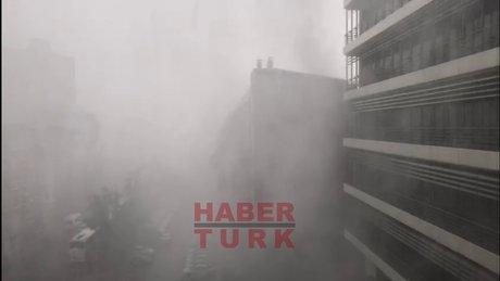 İstanbul'da sağanak yağmur başladı
