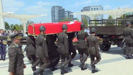 Şehit cenazesinde bir ilk