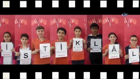 Türkiye'nin dört bir tarafından bin 463 çocuk İstiklal Marşı'nı oluşturdu