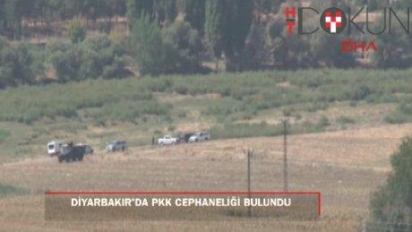 Diyarbakır'da PKK'nın patlayıcı deposu ele geçirildi