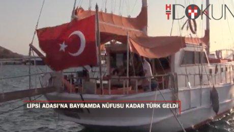 Lipsi Adası'na, nüfusu kadar Türk turist gitti