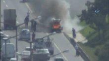 TEM Otoyolu Kavacık Mevkii'nde araç yangını