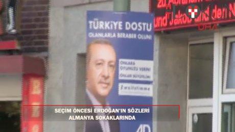 Cumhurbaşkanı Erdoğan'ın 'oy' çağrısı Almanya'da seçim afişlerinde