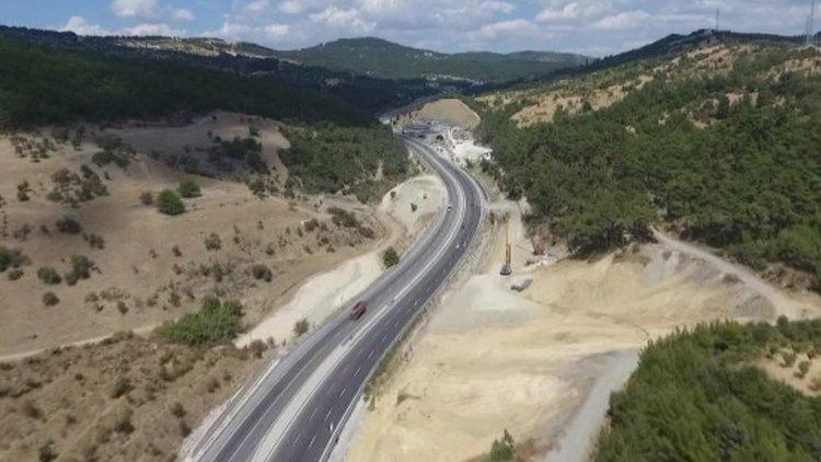 Sabuncubeli Tüneli Havadan Görüntülendi