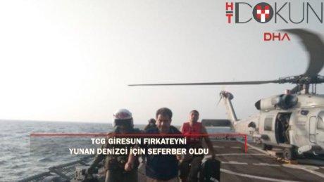 TCG GİRESUN Hint Okyanusu'nda yaralanan Yunan için seferber oldu