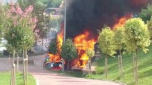 Gaziosmanpaşa'da kafeterya alev alev yandı