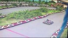 Go-kart aracına şalı takılan hemşire ölümden döndü