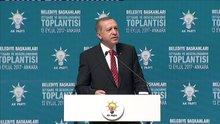 Cumhurbaşkanı Erdoğan  belediye başkanlarına seslendi