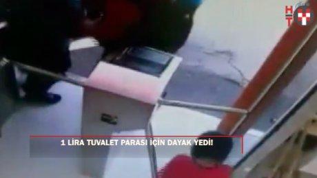 1 lira tuvalet parası vermek istemeyen kadınların kavgası kamerada