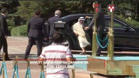 Başbakan Yıldırım, spor ayakkabılı Kuveyt Başbakanını karşıladı