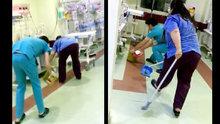 Şanlıurfa'da özel bir hastanenin yeni doğan servisine fare girdi