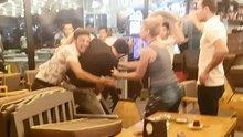 Denizli'de kafede 1 kişinin bıçaklanma anı kamerada!