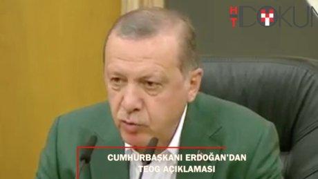 Erdoğan: TEOG, MEB kontrolünde liselerde yapılacak