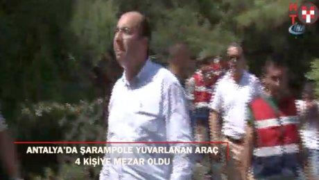 Antalya'da tur otobüs uçuruma yuvarlandı: 4 ölü
