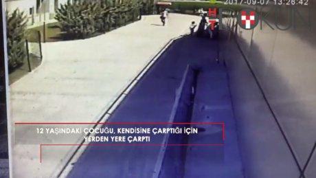 12 yaşında çocuğu yerden yere vurdu: Sebebi...
