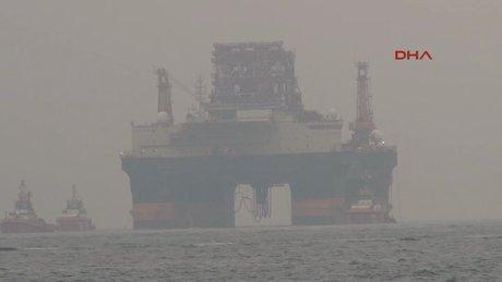 Dev petrol arama platformu İstanbul Boğazı'ndan geçti