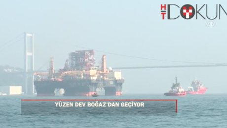 Dev petrol arama platformu İstanbul Boğazı'nda