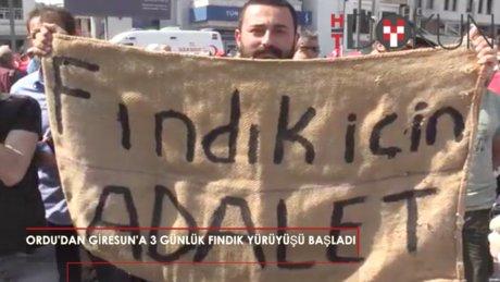 """Ordu'dan Giresun'a """"Fındık İçin Yürüyoruz"""" yürüyüşü"""