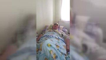 Yatağa mahkum olan 37 yaşındaki Sevda Çetinkaya yardım bekliyor