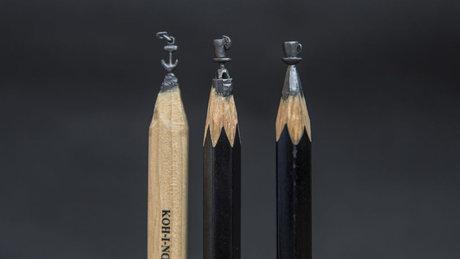 Kurşun kalem oyma sanatı
