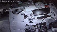 """""""Patron hırsız"""" güvenlik kamerasında"""
