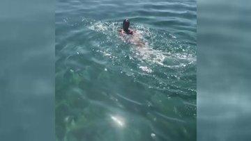 Hülya Avşar denizde