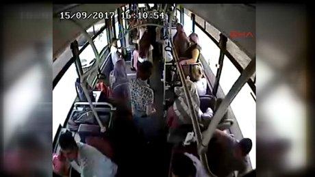 Otobüs şoförü, yolcusunun hayatını kurtardı