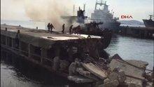 Kartal'da icralık gemide yangın çıktı