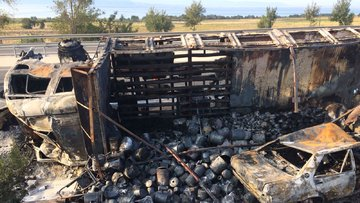 Bursa'da kaza: 2 kişi yanarak öldü