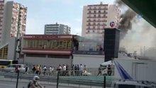 Ataköy Şirinevler Metro istasyonunda yangın